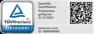 Kleinermann & Sohn GmbH - TÜV geprüfte Qualifikation